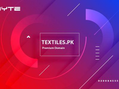 Textiles.pk premium domain for sale in Pakistan